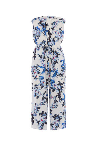 Oasis, Botanical wide leg jumpsuit Off White 0