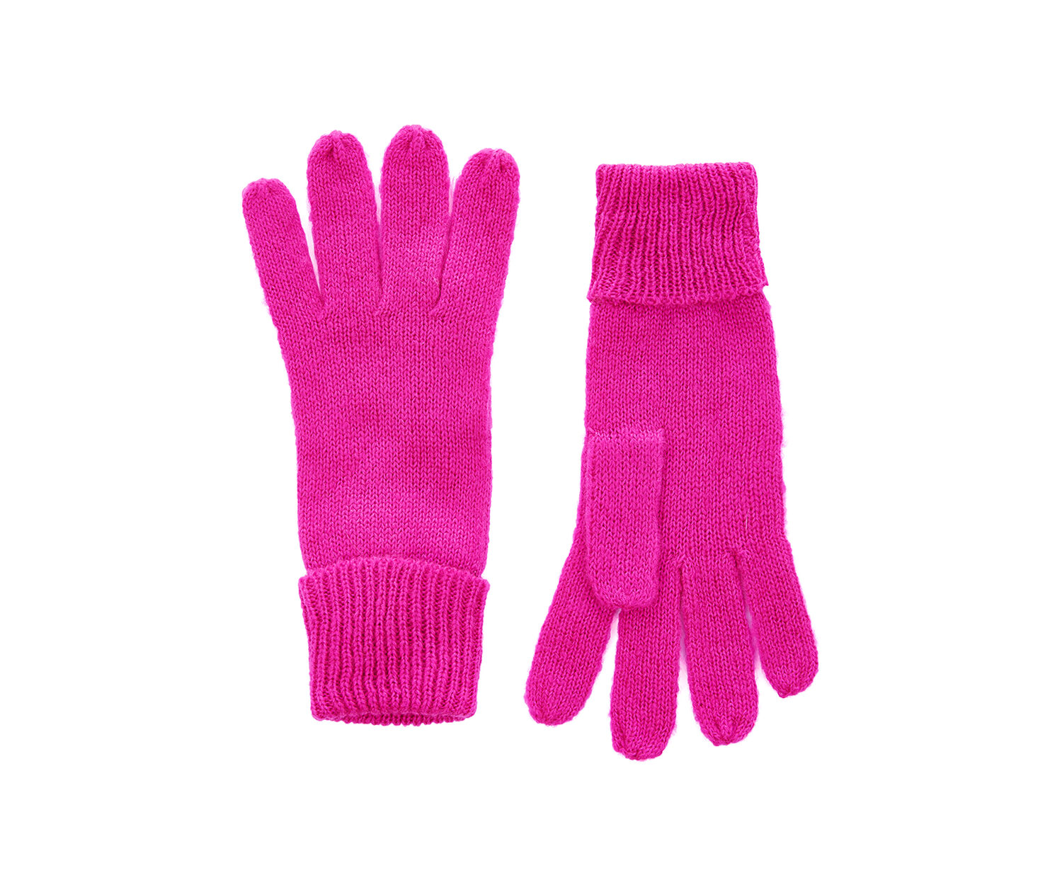 Oasis, JENNY KNITTED GLOVE Mid Pink 1