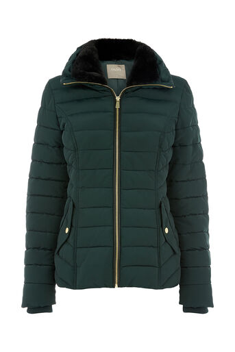 Oasis, NATALIE PADDED JACKET Deep Green 0
