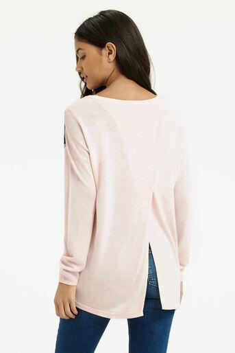 Oasis, Dakota Print Sweater Multi Natural 3