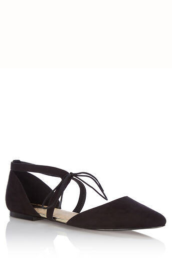 Oasis, Lace-Up Pointed Pump Black 0