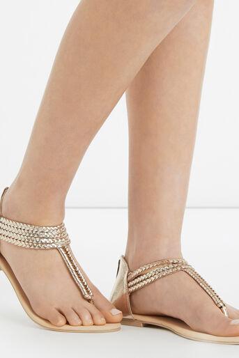 Oasis, Pisa Plait Sandal Gold 1