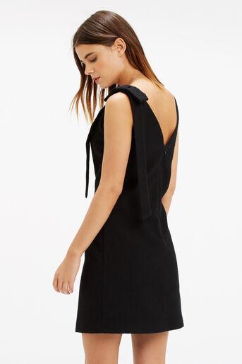 Oasis, Bow Shoulder Dress Black 3