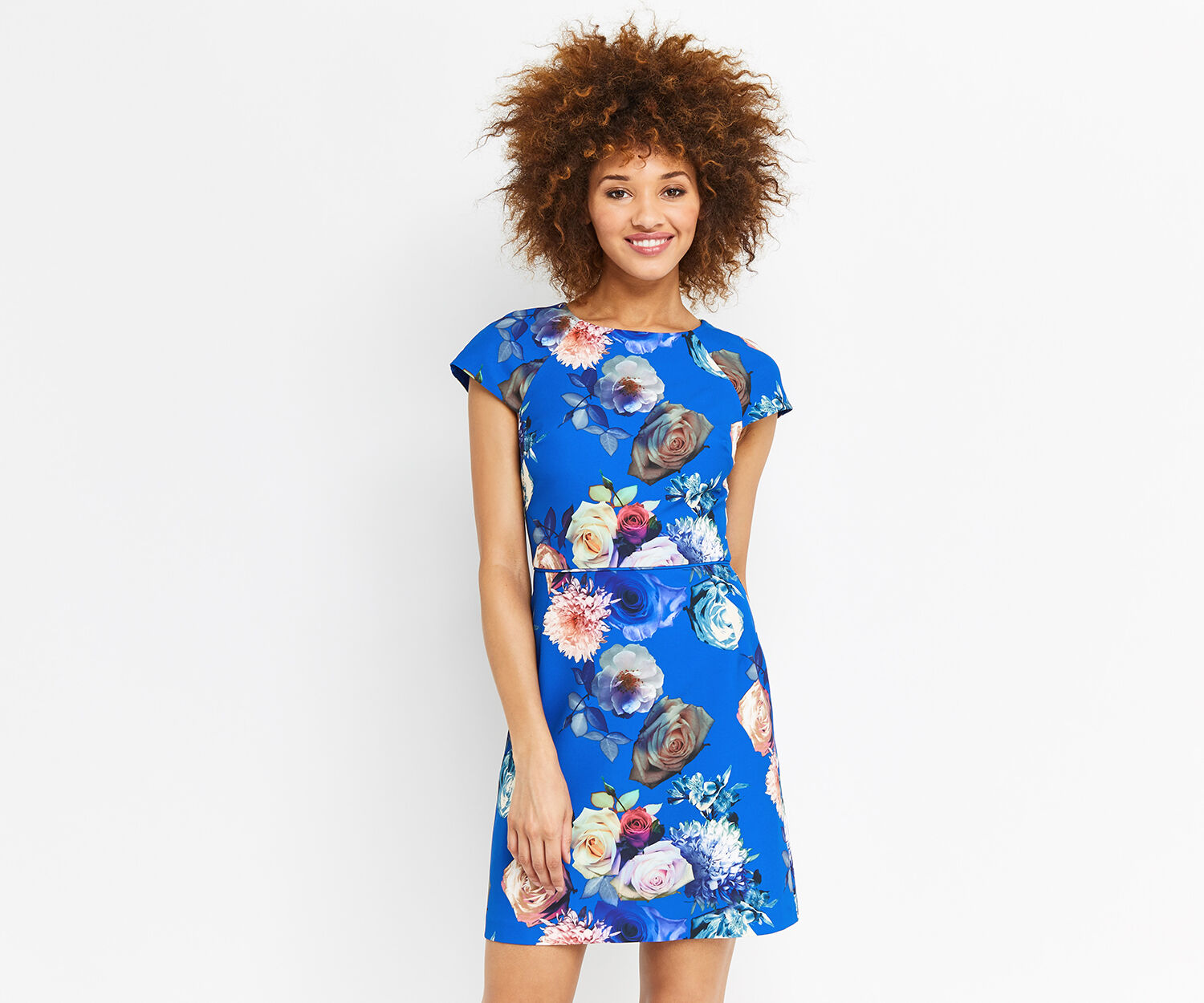 Oasis, ROSE DRESS Multi Blue 1