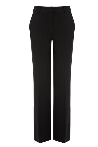 Oasis, Sian Wide Leg Trouser Black 0