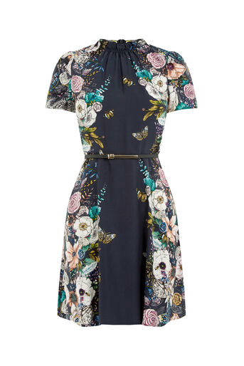 Oasis, FOREST FLORAL SKATER DRESS Multi 0