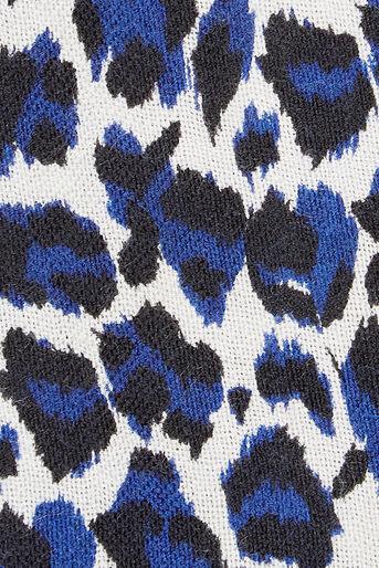 Oasis, LEOPARD PRINT SCARF Cobalt Blue 2