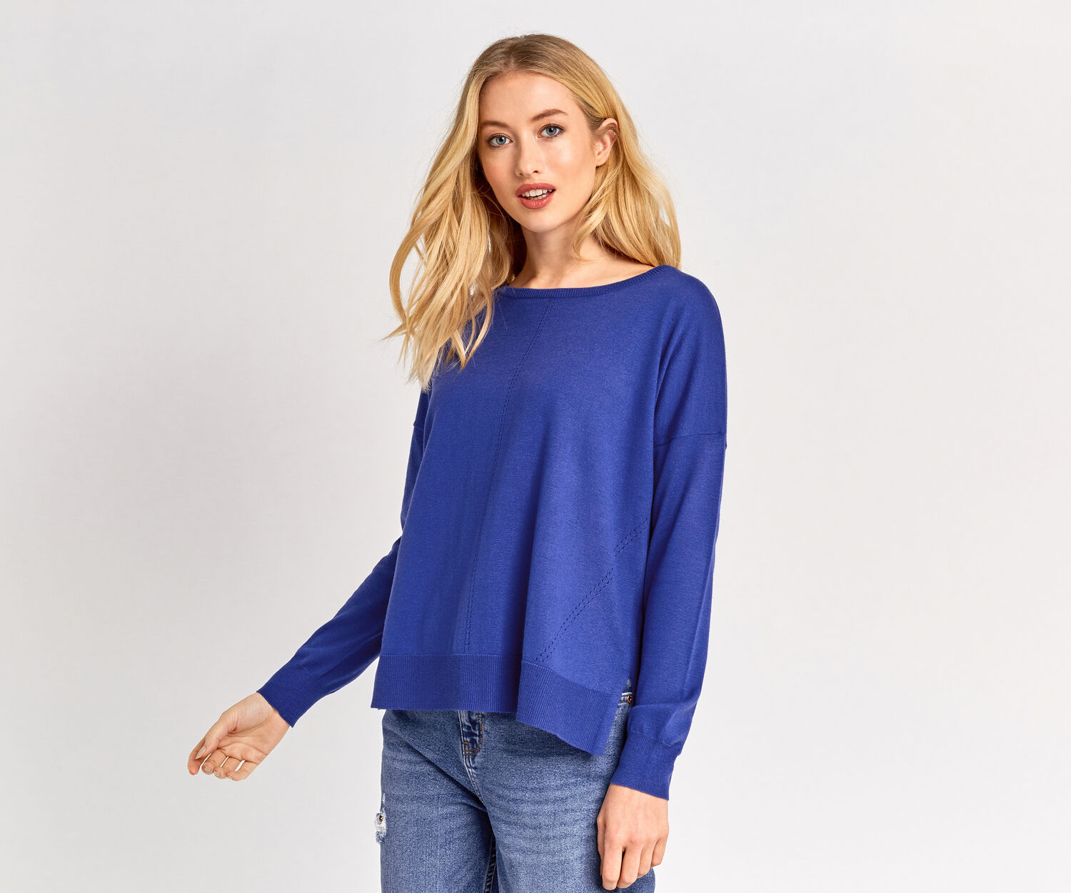 Oasis, Weekend Knit Top Rich Blue 1