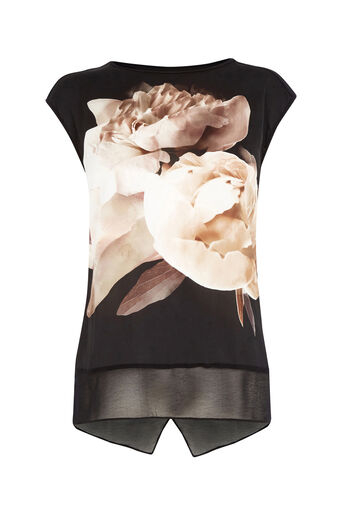 Oasis, DIGITAL PEONY TOP Black 0