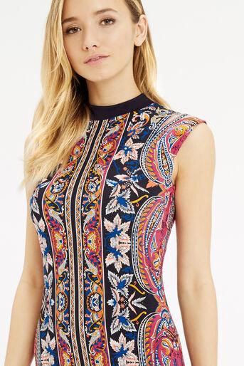 Oasis, Paisley Tube Dress Multi 4