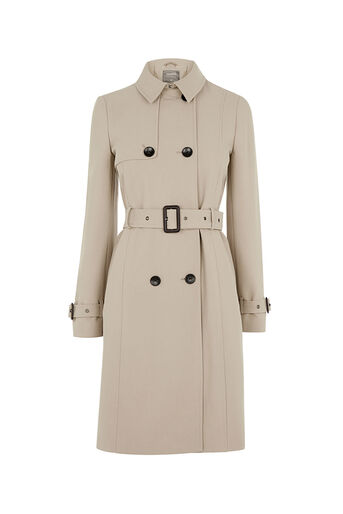 Oasis, BELTED TRENCH COAT Light Neutral 0