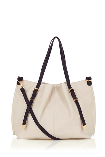 Oasis, Stella Buckle Shopper Light Neutral 0