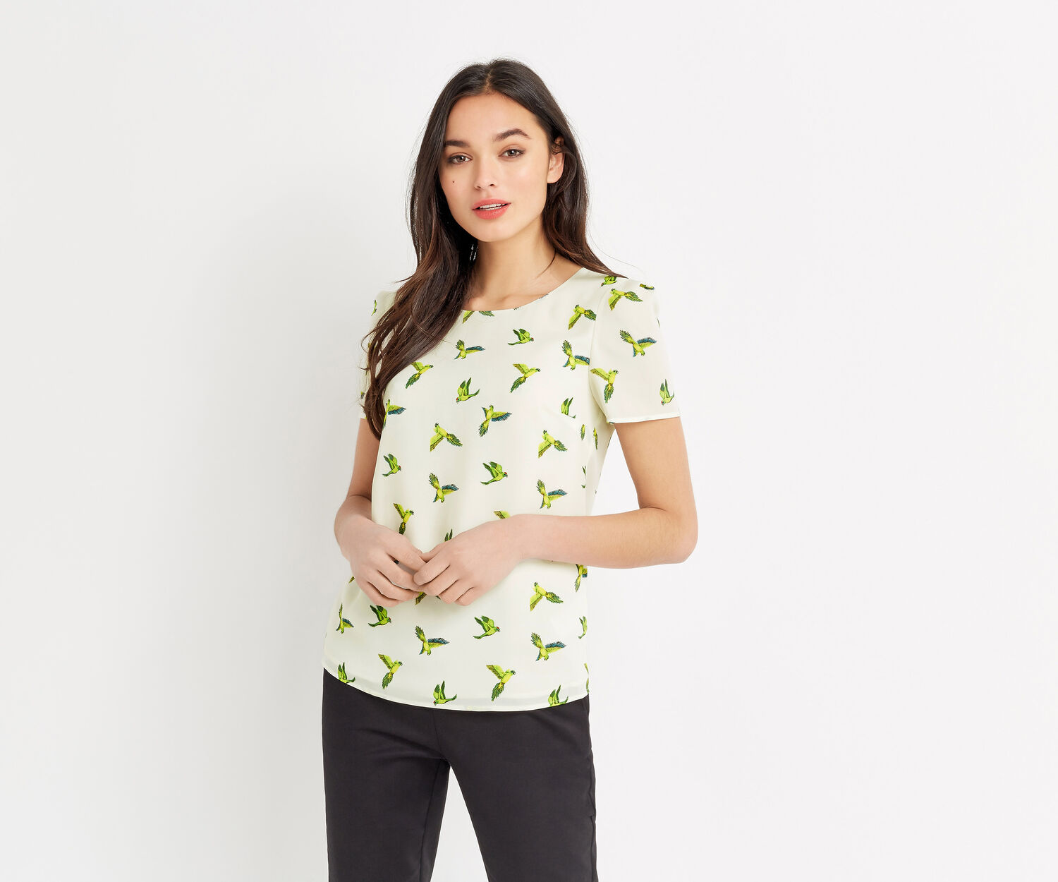 Oasis, TROPICAL PARROT TEE Multi Natural 1