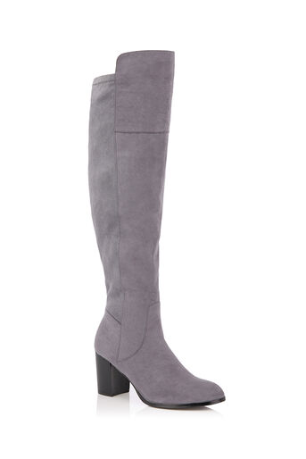 Oasis, BETTY OVER THE KNEE BOOT Mid Grey 0
