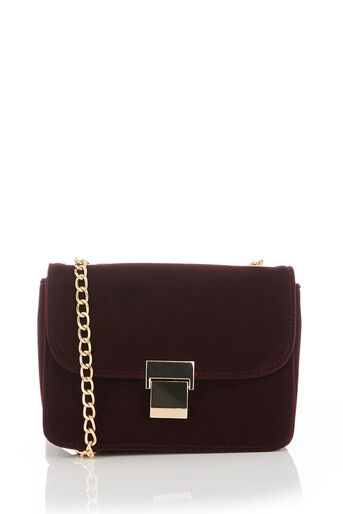 Oasis, PAMMY PARIS BAG - VELVET Burgundy 0