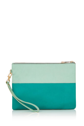 Oasis, FLOSSY PATCHED PURSE Pale Green 0