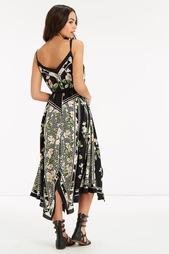 Oasis, CHELSEA SILK FLORAL DRESS Black 3