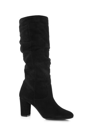 Oasis, SKYE SLOUCH SUEDE BOOT Black 0