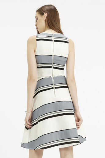 Oasis, Skater Dress - Longer Length Multi Blue 3