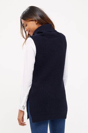 Oasis, Knitted shirt tabard Navy 3