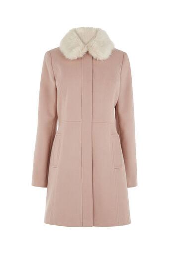 Oasis, SOPHIA PRINCESS COAT Mid Pink 0