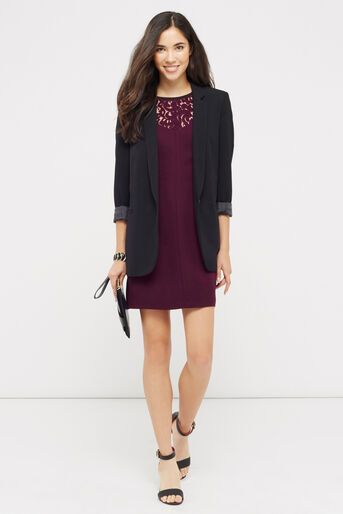Oasis, LACE PATCHED DRESS Burgundy 2