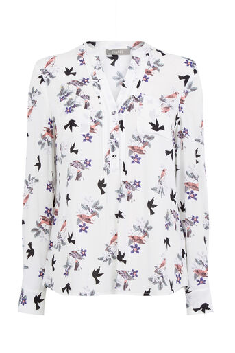Oasis, BIRD BOUQUET SHIRT Multi Natural 0