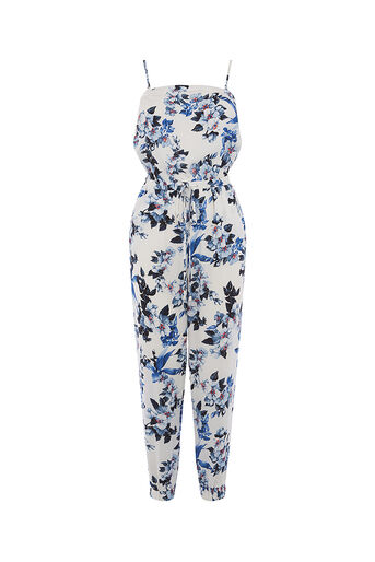 Oasis, Botanical orchid jumpsuit Off White 0