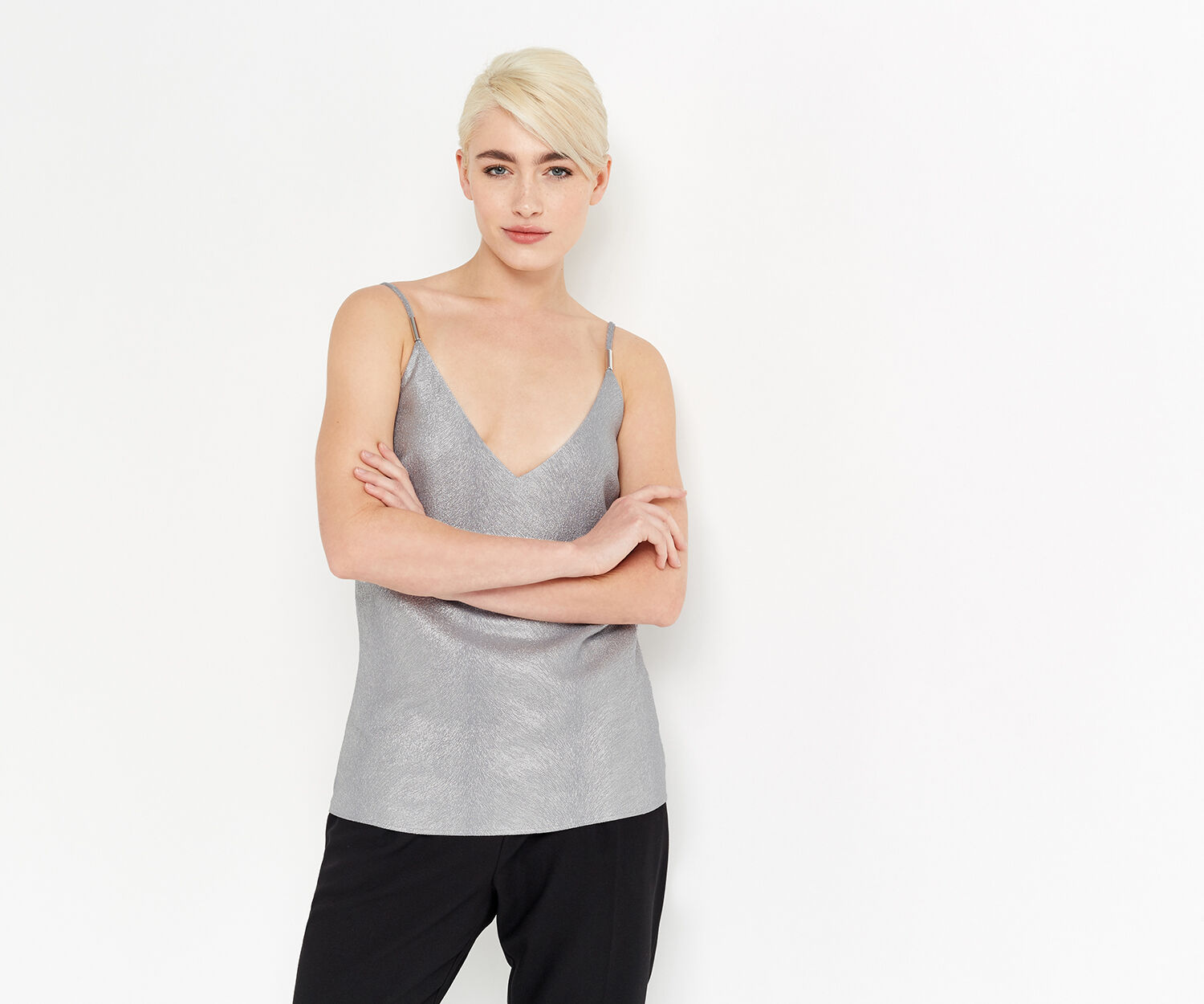 Oasis, ANIMAL FOIL CAMI Silver 1