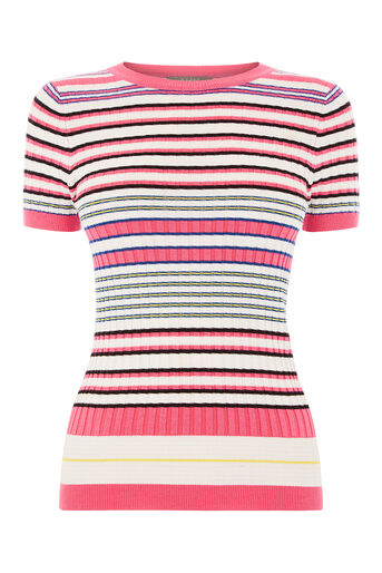 Oasis, Rib stripe top Multi 0