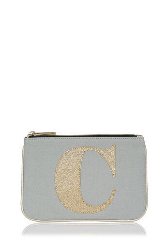 Oasis, Letter C pouch Pale Grey 0