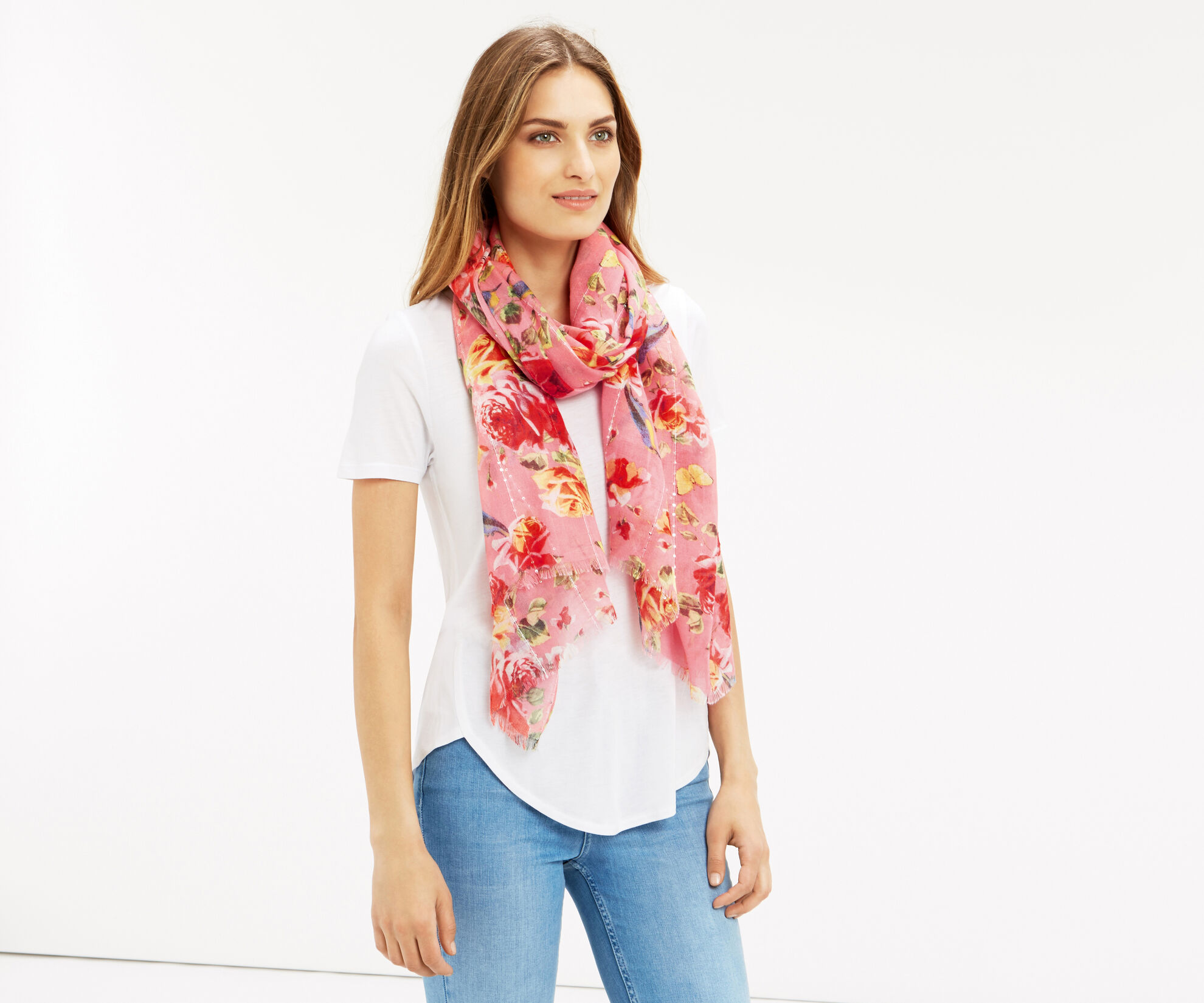 Oasis, BUTTERFLY ROSE SCARF Multi 1