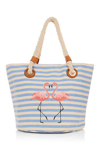 Oasis, FLAMINGO SHOPPER Multi Blue 0