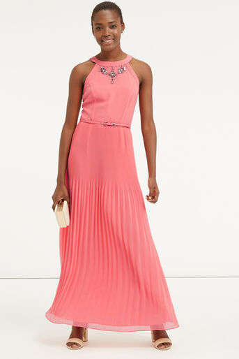 Oasis, EMBELLISHED MAXI DRESS Powder Pink 2