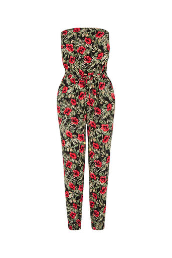 Oasis, Tropical Bandeau Jumpsuit Multi 0