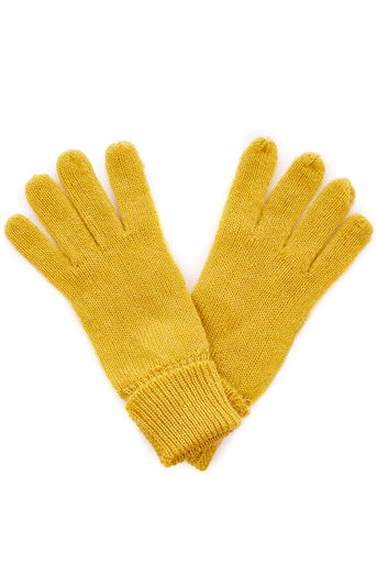 Oasis, JENNY KNITTED GLOVE Bright Yellow 0