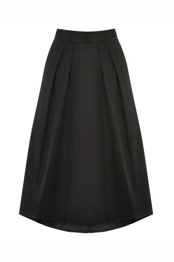 Oasis, PETITE SATIN SKIRT Black 0