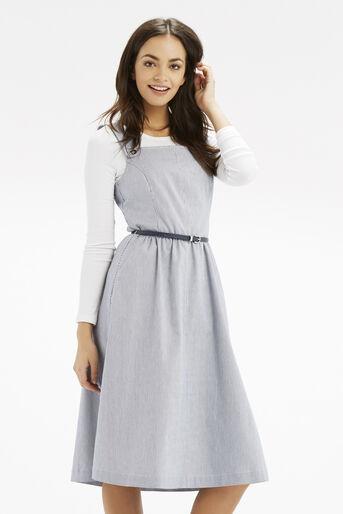 Oasis, Jenna Stripe Midi Dress Multi Blue 1
