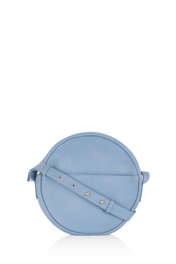 Oasis, LEATHER CIRCLE CROSS-BODY BAG Light Blue 0