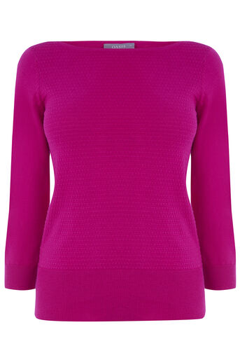Oasis, TEXTURED KNIT Deep Pink 0