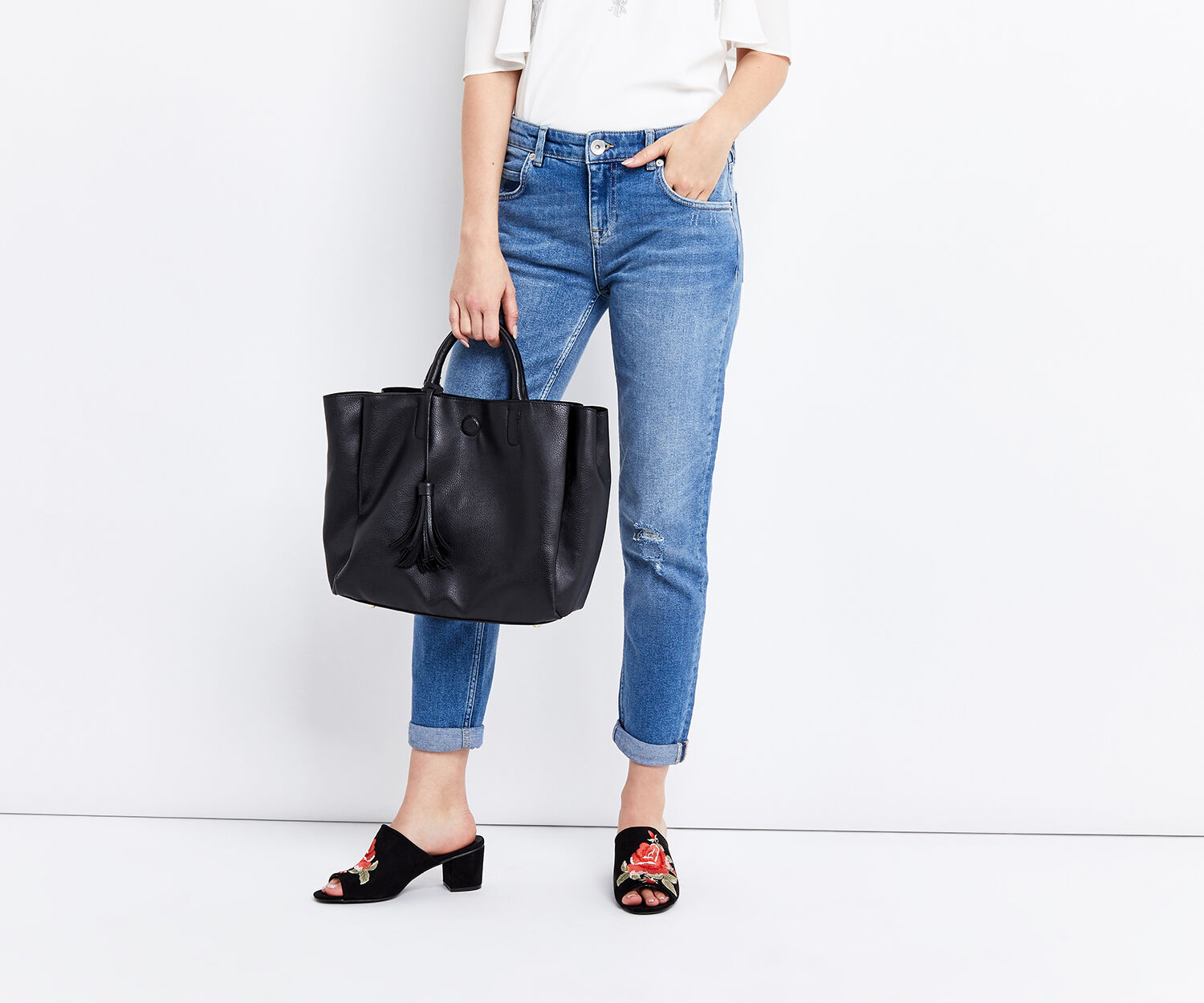 Oasis, SHORT TOPHANDLE TOTE Black 1