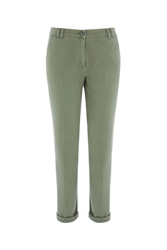 Oasis, LONGER LENGTH CHINO Khaki 0