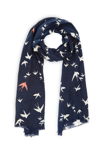 Oasis, SWALLOW BIRD SCARF Coral 0