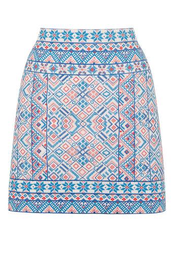 Oasis, Embroidered Poppy Skirt Multi 0