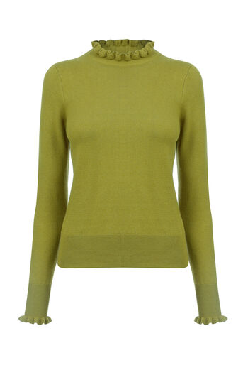 Oasis, THE FRILL KNIT Khaki 0