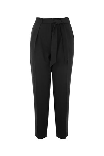 Oasis, TAPERED LEG TROUSER Black 0
