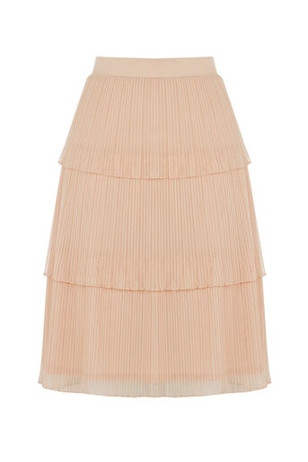 Oasis, Tiered Skirt Pale Pink 0