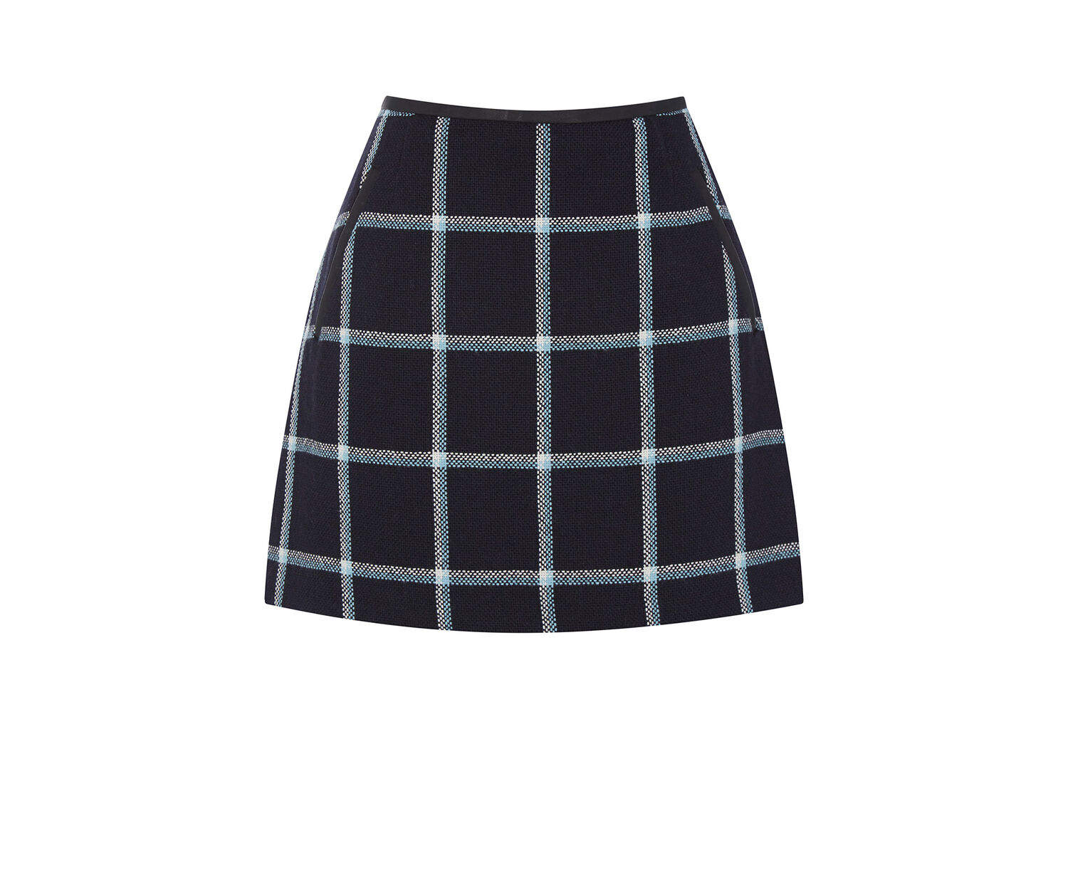 Oasis, Check Marley Mini Skirt Navy 0