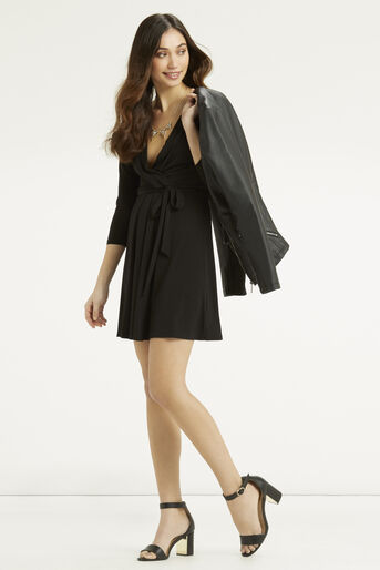 Oasis, Wrap Dress Black 2
