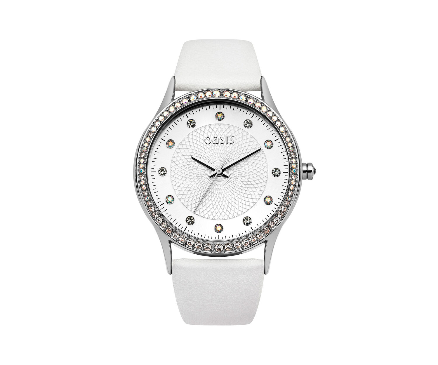 Oasis, White Strap Watch White 0